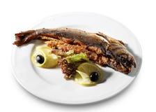 πιάτο ψαριών Στοκ φωτογραφία με δικαίωμα ελεύθερης χρήσης