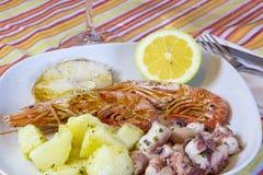 Πιάτο ψαριών Στοκ Εικόνα
