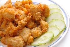 πιάτο ψηγμάτων κοτόπουλο&ups στοκ εικόνες
