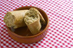 πιάτο ψωμιού Στοκ Εικόνες
