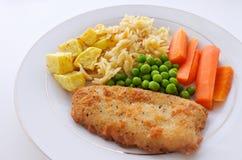 Πιάτο λωρίδων ψαριών Hoki Στοκ Φωτογραφίες