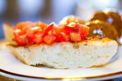 Πιάτο Antipasto Bruschetta Στοκ Εικόνες