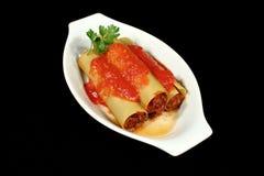 πιάτο cannelloni Στοκ φωτογραφία με δικαίωμα ελεύθερης χρήσης