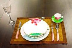 πιάτο floral Στοκ Εικόνες