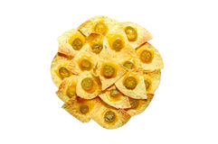 πιάτο nachos Στοκ φωτογραφίες με δικαίωμα ελεύθερης χρήσης