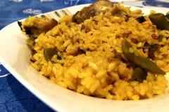 Πιάτο Paella της Βαλένθια Στοκ φωτογραφία με δικαίωμα ελεύθερης χρήσης