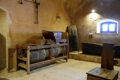 Πιέζοντας εξοπλισμός μέσα στο μοναστήρι Arkadi Στοκ φωτογραφία με δικαίωμα ελεύθερης χρήσης