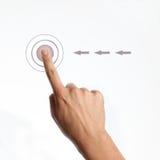 Πιέστε το κουμπί Στοκ φωτογραφία με δικαίωμα ελεύθερης χρήσης