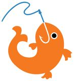 πιασμένα ψάρια διανυσματική απεικόνιση