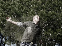 πιασμένο άτομο καθαρό Στοκ φωτογραφία με δικαίωμα ελεύθερης χρήσης