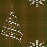 Πιασμένο υπόβαθρο με το χριστουγεννιάτικο δέντρο διανυσματική απεικόνιση