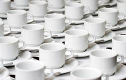 πιατάκια φλυτζανιών Στοκ φωτογραφία με δικαίωμα ελεύθερης χρήσης