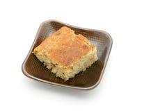 πιατάκι κέικ νόστιμο Στοκ Εικόνα