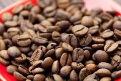 πιατάκι καφέ φασολιών Στοκ Εικόνες