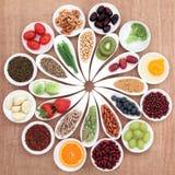 Πιατέλα υγιεινής διατροφής Στοκ εικόνα με δικαίωμα ελεύθερης χρήσης