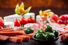 Πιατέλα γευμάτων Antipasto Στοκ Εικόνες