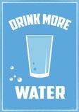 Πιείτε περισσότερο νερό Στοκ Εικόνες