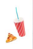 πιείτε τη σόδα φετών πιτσών Στοκ φωτογραφίες με δικαίωμα ελεύθερης χρήσης