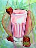 πιείτε τη φράουλα Στοκ εικόνα με δικαίωμα ελεύθερης χρήσης