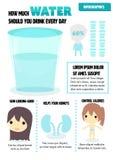 Πιείτε το νερό Στοκ Εικόνες