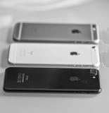 ΠΙΖΑ, ΙΤΑΛΙΑ - 15 ΟΚΤΩΒΡΊΟΥ 2016: iPhone 6, 6plus και σύγκριση 7 Στοκ Φωτογραφία