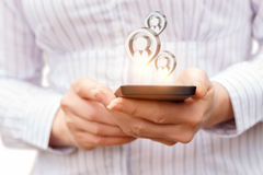 Πιθανοί πελάτες στο τηλέφωνο Στοκ Φωτογραφία