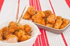 Πικάντικα ψήγματα κοτόπουλου Στοκ φωτογραφία με δικαίωμα ελεύθερης χρήσης
