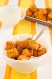 Πικάντικα ψήγματα κοτόπουλου Στοκ Εικόνα
