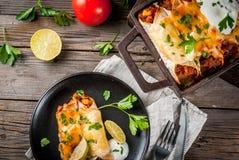 Πικάντικα enchiladas βόειου κρέατος Στοκ εικόνες με δικαίωμα ελεύθερης χρήσης