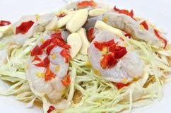 Πικάντικες ακατέργαστες γαρίδες Στοκ Φωτογραφίες