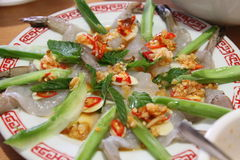 Πικάντικες γαρίδες στοκ φωτογραφία με δικαίωμα ελεύθερης χρήσης
