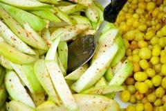 Πικάντικες μάγκο και ελιά Στοκ Εικόνες