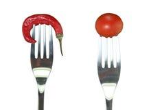 πικάντικες ντομάτες πιπεριών κερασιών Στοκ Φωτογραφίες