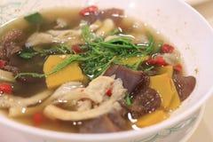Πικάντικη μικτή φυτική σούπα Στοκ φωτογραφία με δικαίωμα ελεύθερης χρήσης