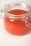 πικάντικη ντομάτα σάλτσας βάζων Στοκ εικόνες με δικαίωμα ελεύθερης χρήσης