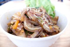 Πικάντικη σαλάτα αυτιών χοίρων στοκ εικόνα με δικαίωμα ελεύθερης χρήσης