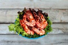 Πικάντικη σαλάτα ως, πικάντικη και ξινή μικτή σαλάτα χορταριών με το κομματιασμένο χοιρινό κρέας Στοκ Εικόνες
