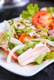 Πικάντικη σαλάτα καλαμαριών Στοκ Φωτογραφία