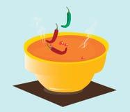 Πικάντικη σούπα τσίλι (κύπελλο) Στοκ φωτογραφίες με δικαίωμα ελεύθερης χρήσης
