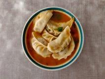 Πικάντικη σούπα Momo κοτόπουλου στοκ φωτογραφία