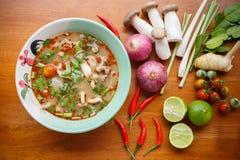 Πικάντικη σούπα Pock Στοκ Φωτογραφία