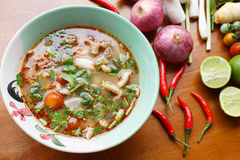 Πικάντικη σούπα Pock Στοκ εικόνα με δικαίωμα ελεύθερης χρήσης