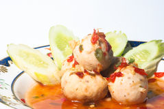 Πικάντικη σφαίρα χοιρινού κρέατος Στοκ εικόνα με δικαίωμα ελεύθερης χρήσης