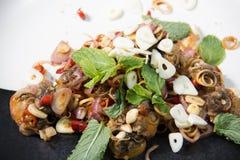 Πικάντικη cockle σαλάτα, yum hoi krang Στοκ Εικόνες