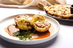 Πικάντικο κάρρυ κάρρυ ή αυγών Anda ή ζωμός masala αυγών Στοκ φωτογραφίες με δικαίωμα ελεύθερης χρήσης