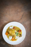 Πικάντικο κάρρυ κοτόπουλου με τα λαχανικά Στοκ Εικόνες