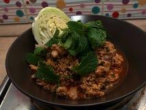 Πικάντικο κομματιασμένο χοιρινό κρέας σπιτικό στοκ φωτογραφία με δικαίωμα ελεύθερης χρήσης