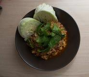 Πικάντικο κομματιασμένο χοιρινό κρέας σπιτικό στοκ φωτογραφίες