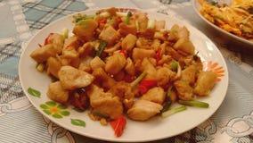 Πικάντικο κοτόπουλο κινέζικα Στοκ εικόνες με δικαίωμα ελεύθερης χρήσης