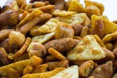 Πικάντικο μίγμα πρόχειρων φαγητών Στοκ Εικόνα